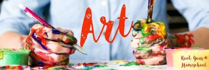 Amazing list of free printables for homeschool art.