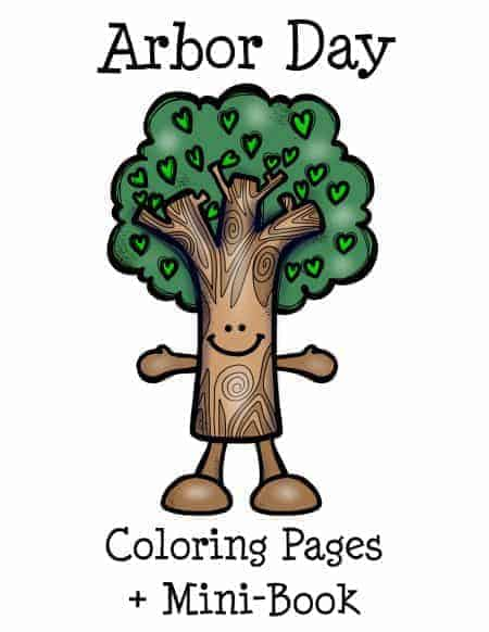 Get your FREE Arbor Day Coloring Pages + Mini-Book to help you celebrate with kids!