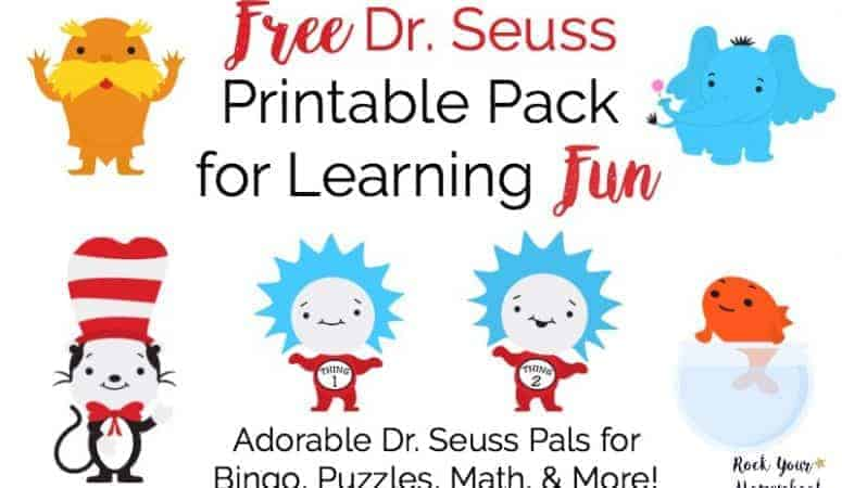 Free Dr. Seuss Printable Pack for Learning Fun