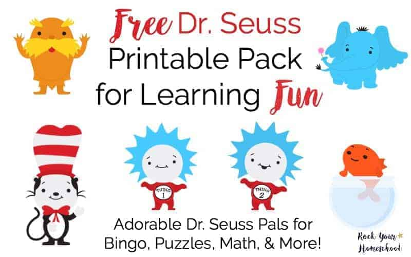 Click here for your free Dr. Seuss printable pack for learning fun!