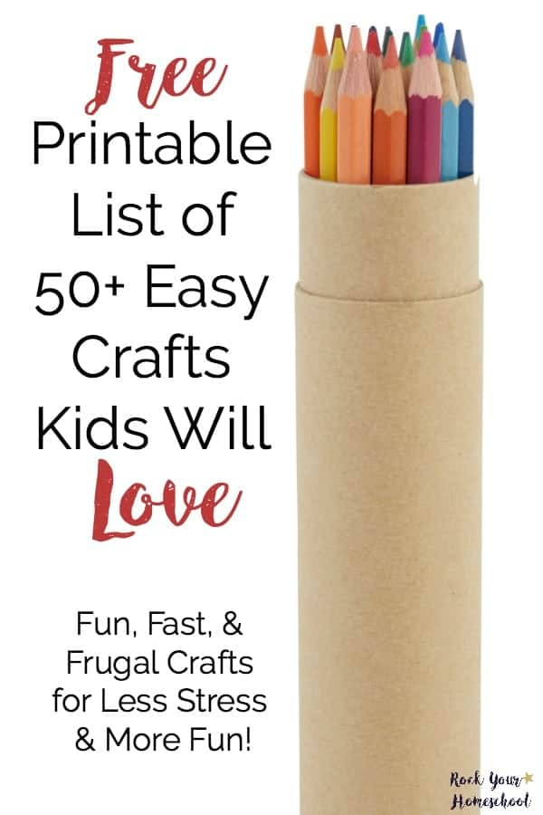 photograph regarding Printable Crafts for Kids identified as Absolutely free Printable Record of 50+ Straightforward Crafts Little ones Will Take pleasure in - Rock