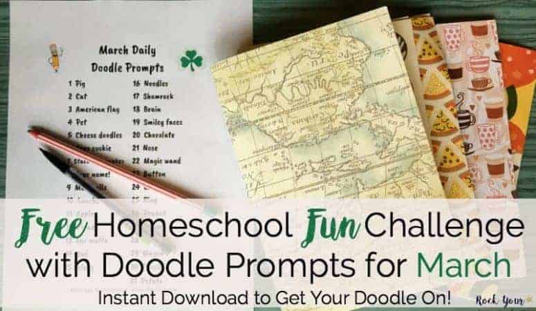 FREE Homeschool Fun Challenge with Doodle Prompts for March