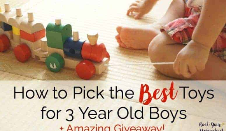 How to Pick the Best Toys for 3 Year Old Boys + Amazing Giveaway
