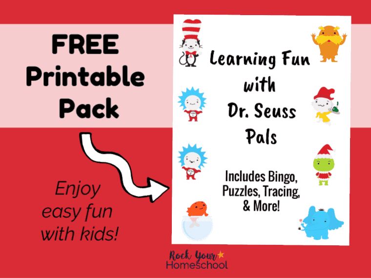 Enjoy easy learning fun with Dr. Seuss Pals & this free printable pack of activities.