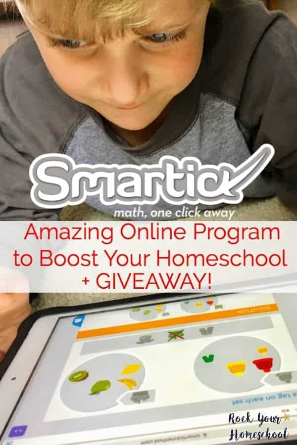 Smartick Math is an amazing online math program that can help you rock your homeschool. Learn about its benefits, unique approach, & why my boys love it! Includes giveaway! (ends 3/6)