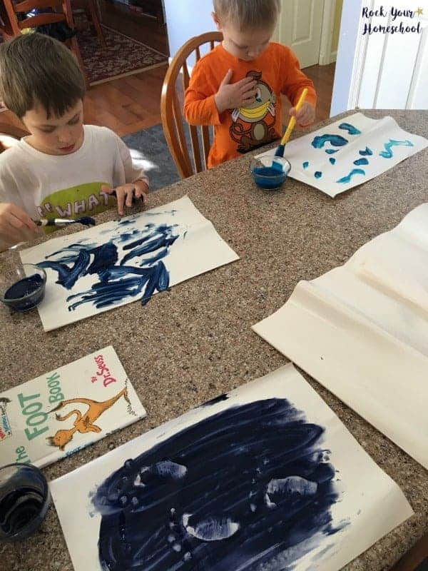 Make fingerpaint feet with this hands-on activity for The Foot Book.