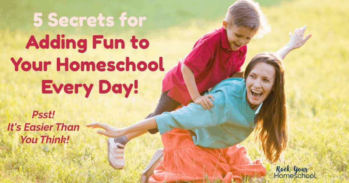 You can add fun to your homeschool every day, even if life is busy. Discover this busy homeschool soccer mom's 5 secrets to making sure every day includes moments of fun to connect & build memories.