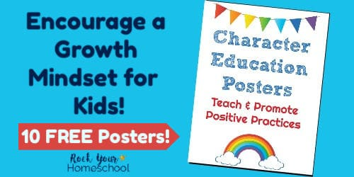 Encourage a growth mindset for kids with these 10 free posters.