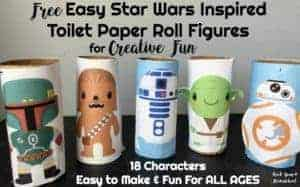 Get your FREE Easy Star Wars Inspired Toilet Paper Roll Figures for creative fun.