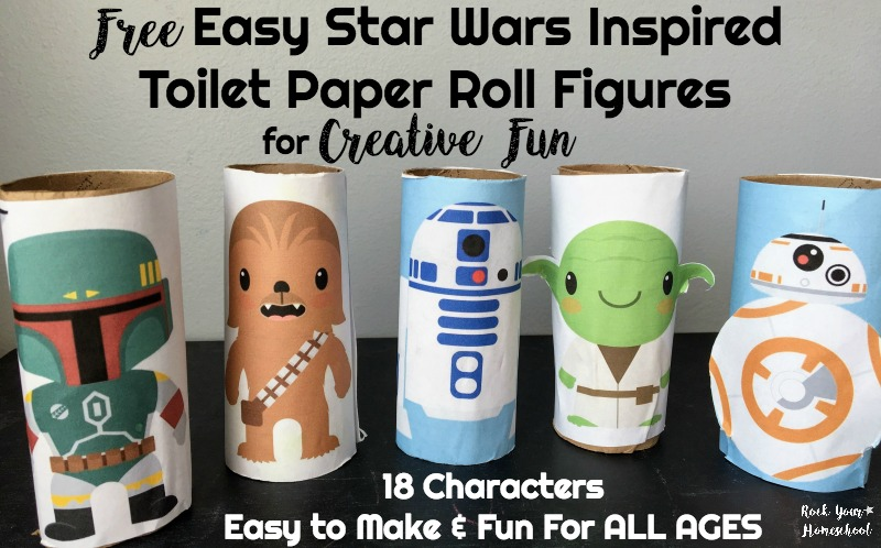 Free Easy Star Wars Toilet Paper Roll Figures for Creative Fun