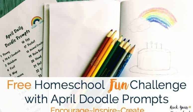 Free Homeschool Fun Challenge with April Doodle Prompts