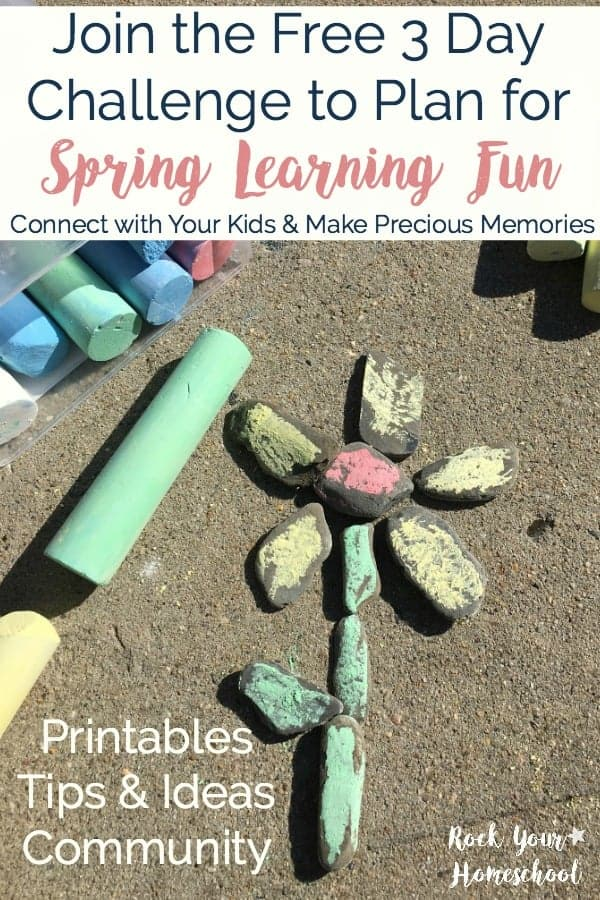 Let's make your Spring full of learning fun with your kids! Join our FREE 3 Day Challenge to Plan for Spring Learning Fun. Discover how to plan & follow through with fun activities, games, crafts, STEM, & more!