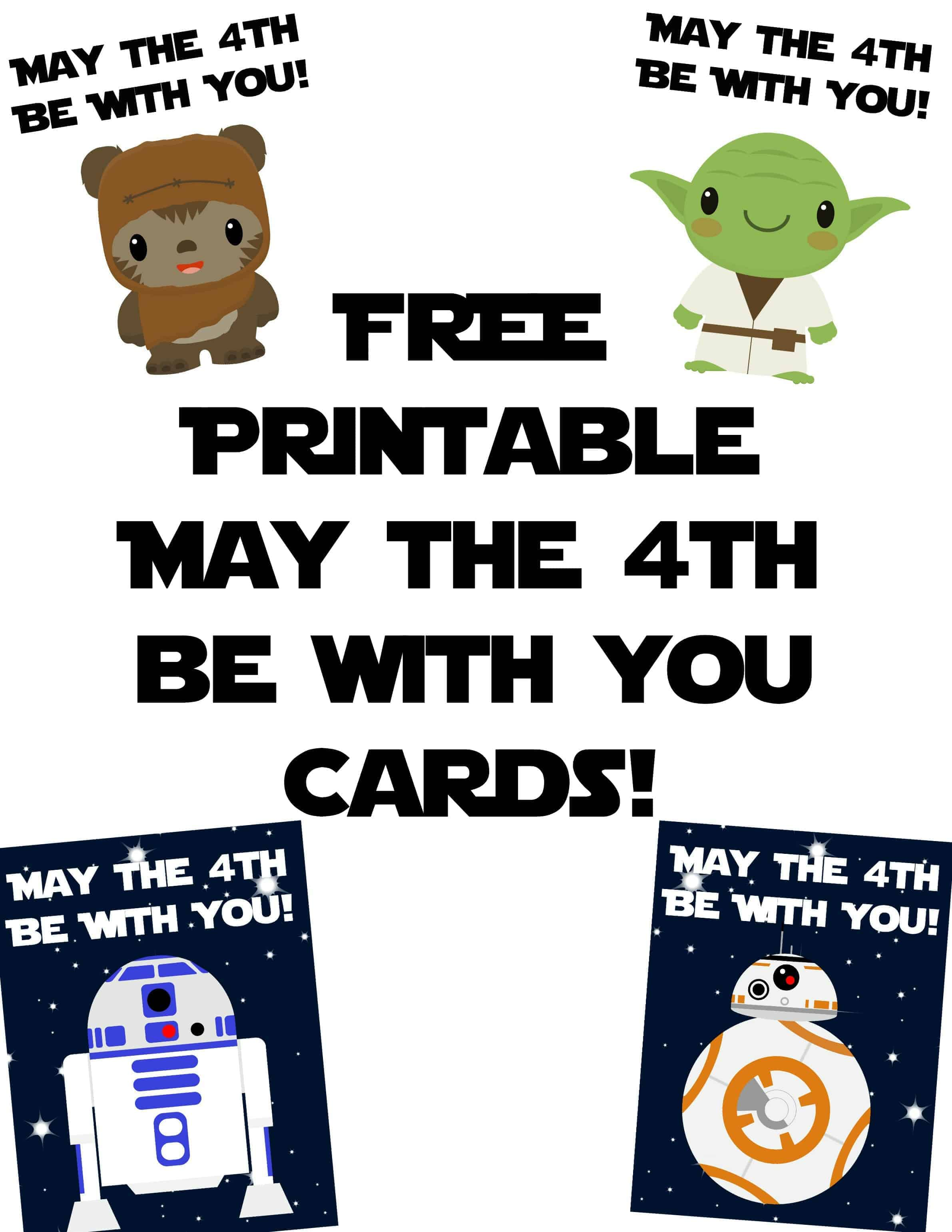 picture regarding Star Wars Clip Art Free Printable named Star Wars Playing cards for Could possibly The 4th Be With Yourself - Rock Your