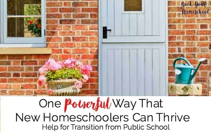 New homeschoolers often have lots of questions and concerns. Find out how this one powerful strategy can help you thrive. Just the help you need for the transition from public school to homeschooling.