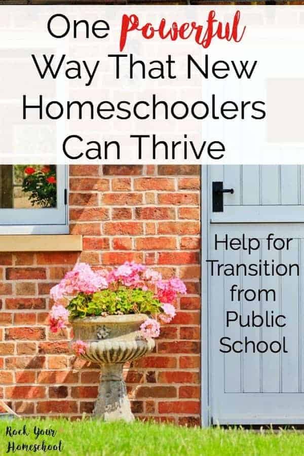 Are you a new homeschooler and not sure what to do? Learn from my mistakes and discover how this one powerful strategy can help you thrive. Get the help you need for the transition from public school to homeschooling.