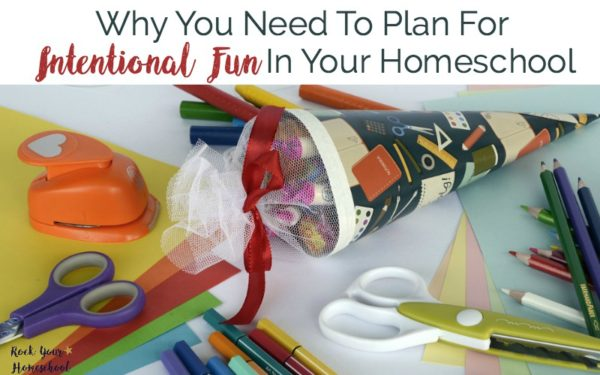 Discover why you need to plan for intentional fun in your homeschool. And learn why you ARE a fun mom:)