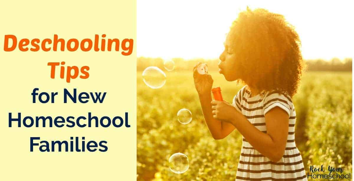 Use these 8 helpful deschooling tips for new homeschool families to help with the transition from public school.
