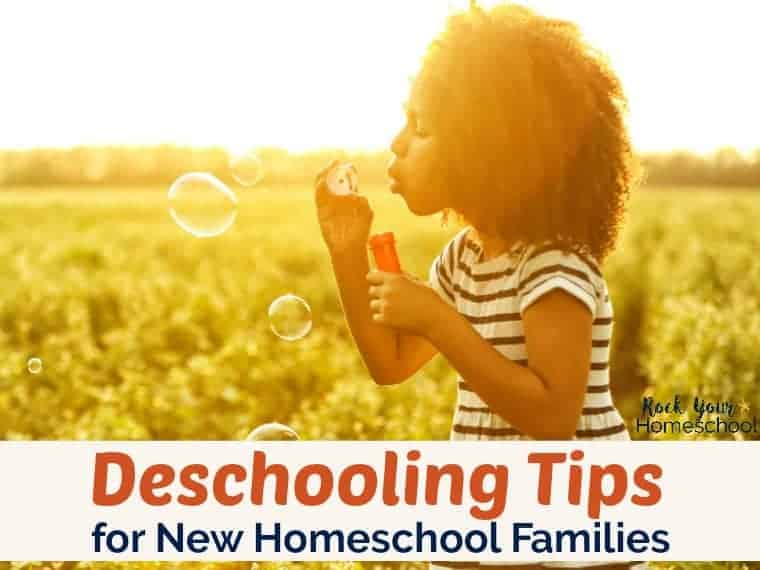 Are you considering homeschooling or a new homeschooler? Learn more about deschooling & how these 8 tips can help your have a positive transition from public school.