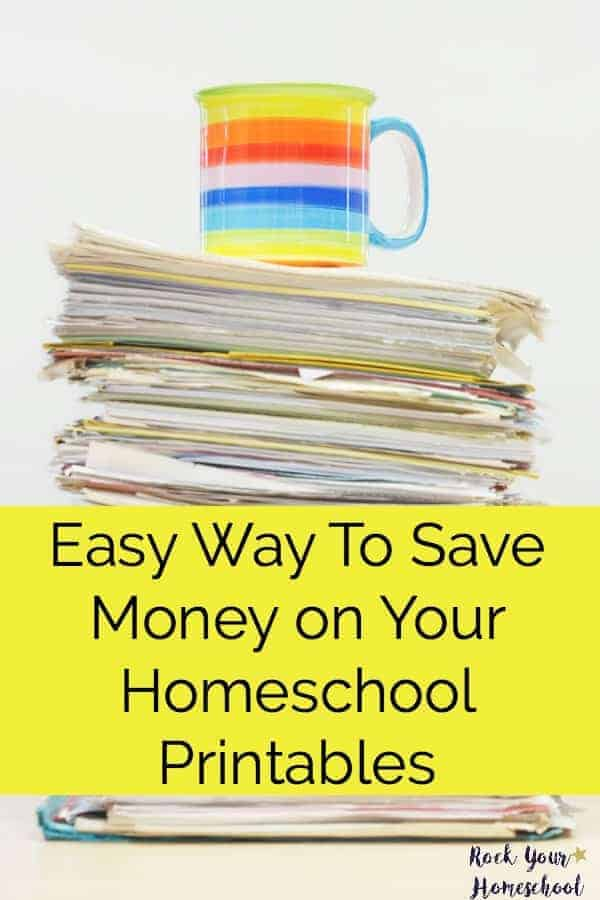 Find out how I am saving money in our homeschool by changing how I print them out! Super easy & affordable way to make sure you are actually printing & using all those fabulous freebies & homeschool printables!