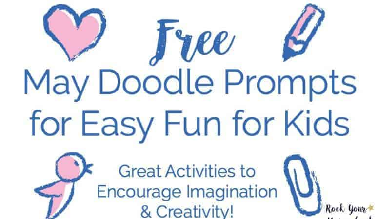 Free May Doodle Prompts for Easy Fun for Kids