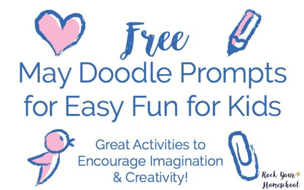 Get your FREE May Doodle Prompts for Easy Fun for Kids. Instant download so you can get started with doodling activities right away!