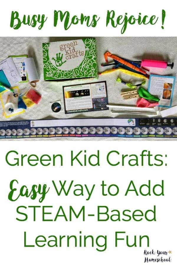 STEAM-based learning can be easy & fun!  Find out why my boys & I love Green Kid Crafts for homeschool & family fun.