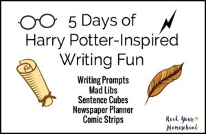 Join the celebration! 5 Days of Harry Potter-Inspired Writing Fun with free printable packs.