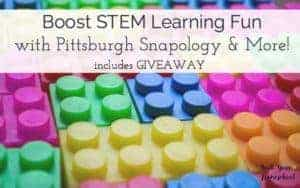 If you want to boost STEM learning fun with your kids, check out these resources. Great ways to connect at home & at Pittsburgh Snapology. {Includes giveaway that ends 6/14}