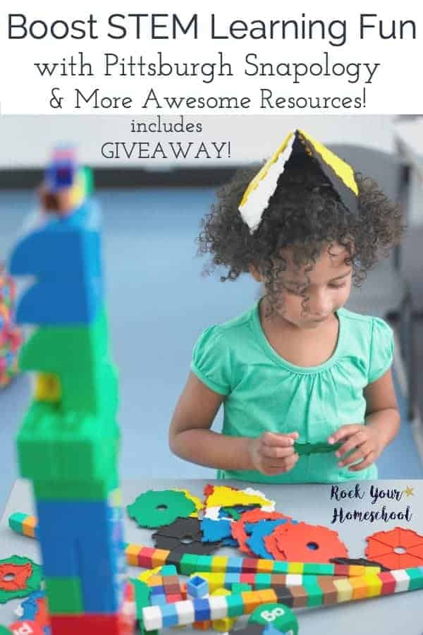 If you would like to boost STEM learning fun with your kids, you will want to check out these resources! Discover great ways to include STEM activities at home & at Pittsburgh Snapology. Includes giveaway that ends 6/14.