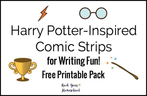 Add a boost to your writing fun with this free printable pack to help you create Harry Potter-Inspired Comic Strips.