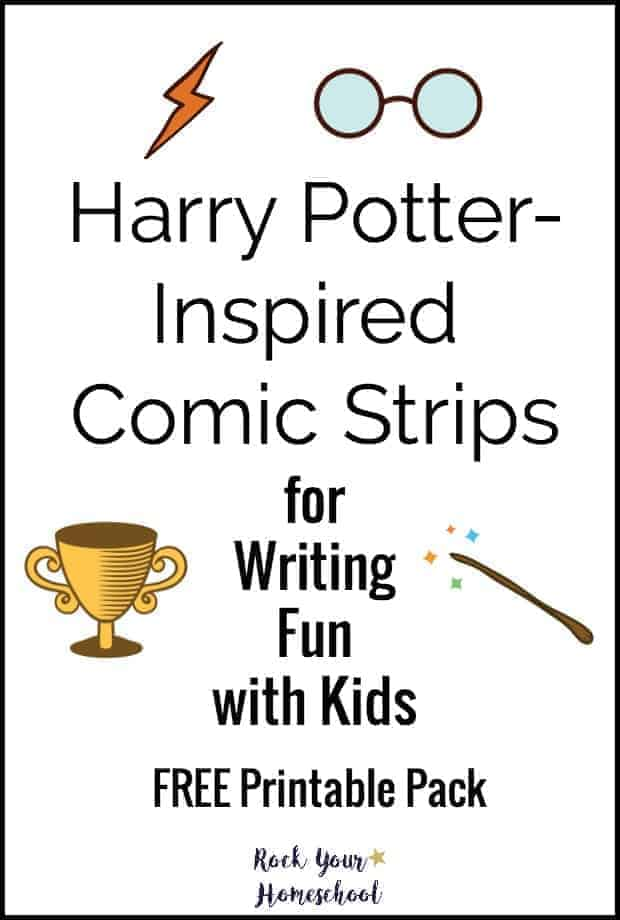 Add a boost to your writing fun with kids with this free printable pack for Harry-Potter Inspired Comic Strips.