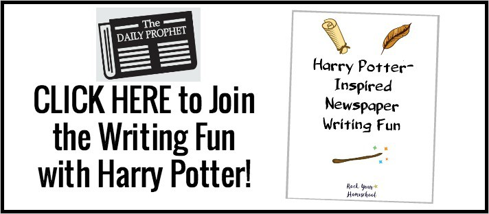 Click here to get your FREE printable Harry Potter-Inspired Newspaper Planner for writing fun with kids.