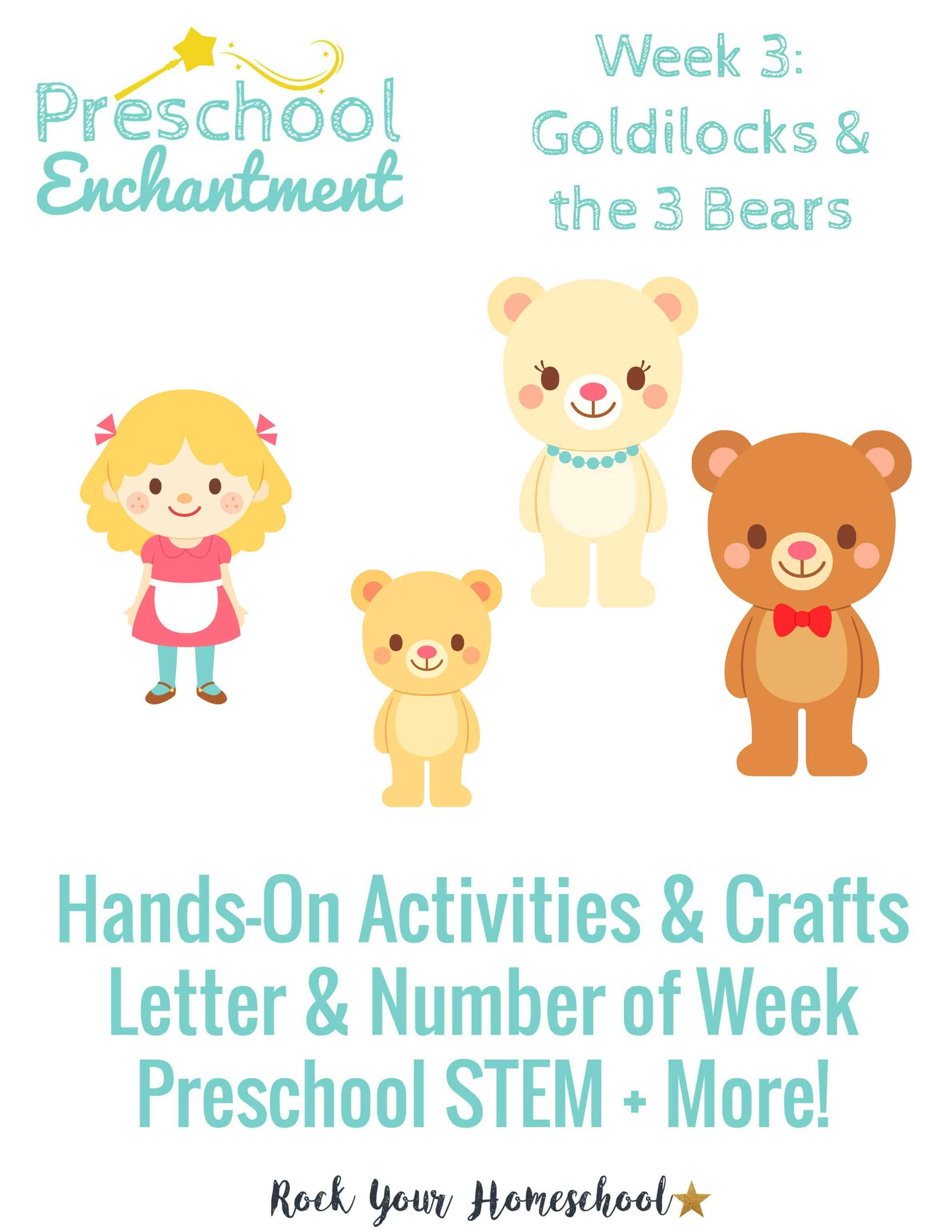 Unit study colors preschool - Goldilocks The Three Bears Is The Preschool Enchantment Unit Study For Week
