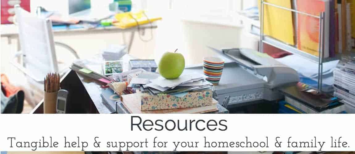 Get tangible help & support for your homeschool & family life.  Free printables & other resources to help you discover the joys of authentic homeschooling.