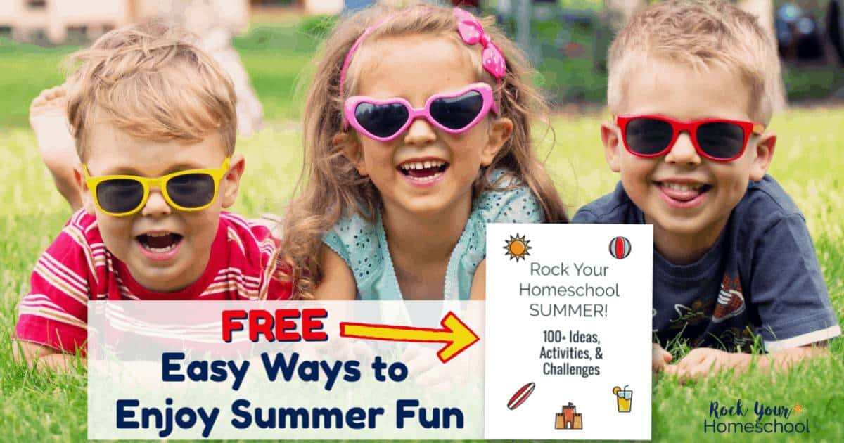 Rock Your Homeschool Summer with this free printable pack of ideas, challenges, & activities that your kids will love.