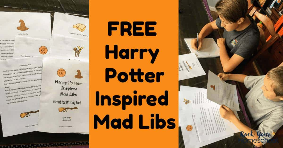 These free Harry Potter-Inspired Mad Libs are fantastic ways to have fun in your party, classroom, homeschool, & family.
