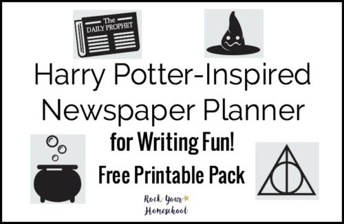 Have awesome Harry Potter-Inspired writing fun with this free printable pack of newspaper planner.