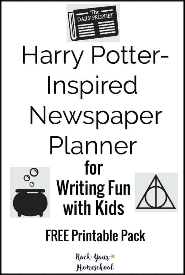Add sparkle to your writing fun with this Harry Potter-Inspired Newspaper Planner.  Free printable pack helps you & your kids create your own magical writing experience!