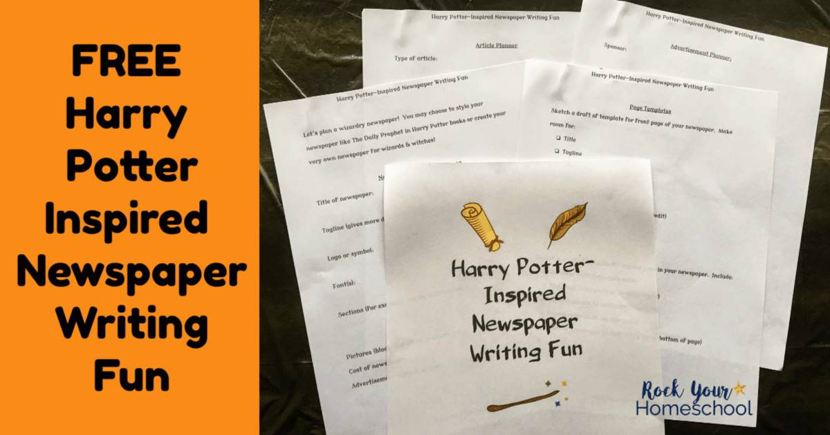 Have magical writing fun with kids using these free Harry Potter-Inspired Newspaper Writing activities.