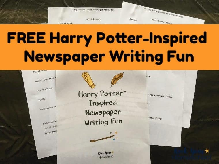 Free Harry Potter-Inspired Newspaper Planner for Writing Fun