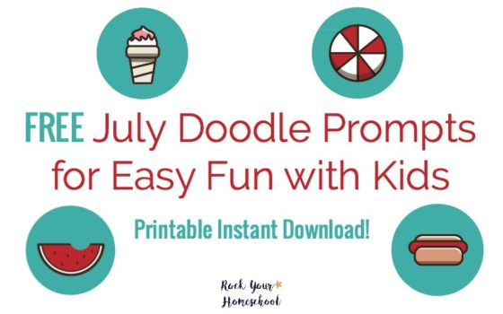 Free July Doodle Prompts for Easy Fun with Kids