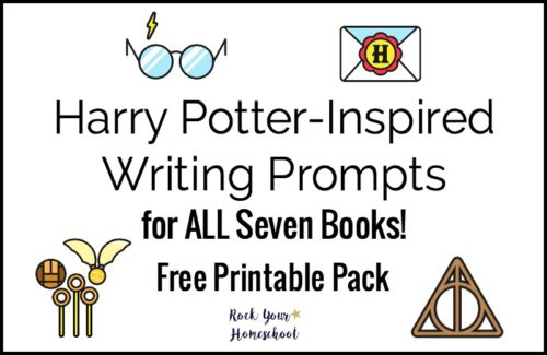 Motivate & inspire writing fun with your kids with these free printable Harry Potter-Inspired writing prompts.
