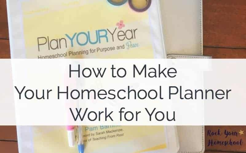 Homeschool planning doesn't have to be painful! Discover how you can make your homeschool planner work for you!