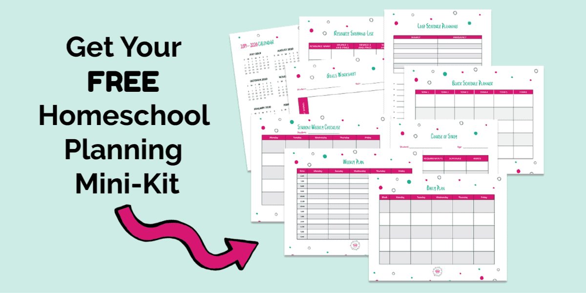 This free homeschool planning mini-kit contains 12 pages of essential forms to help you Plan Your Year.
