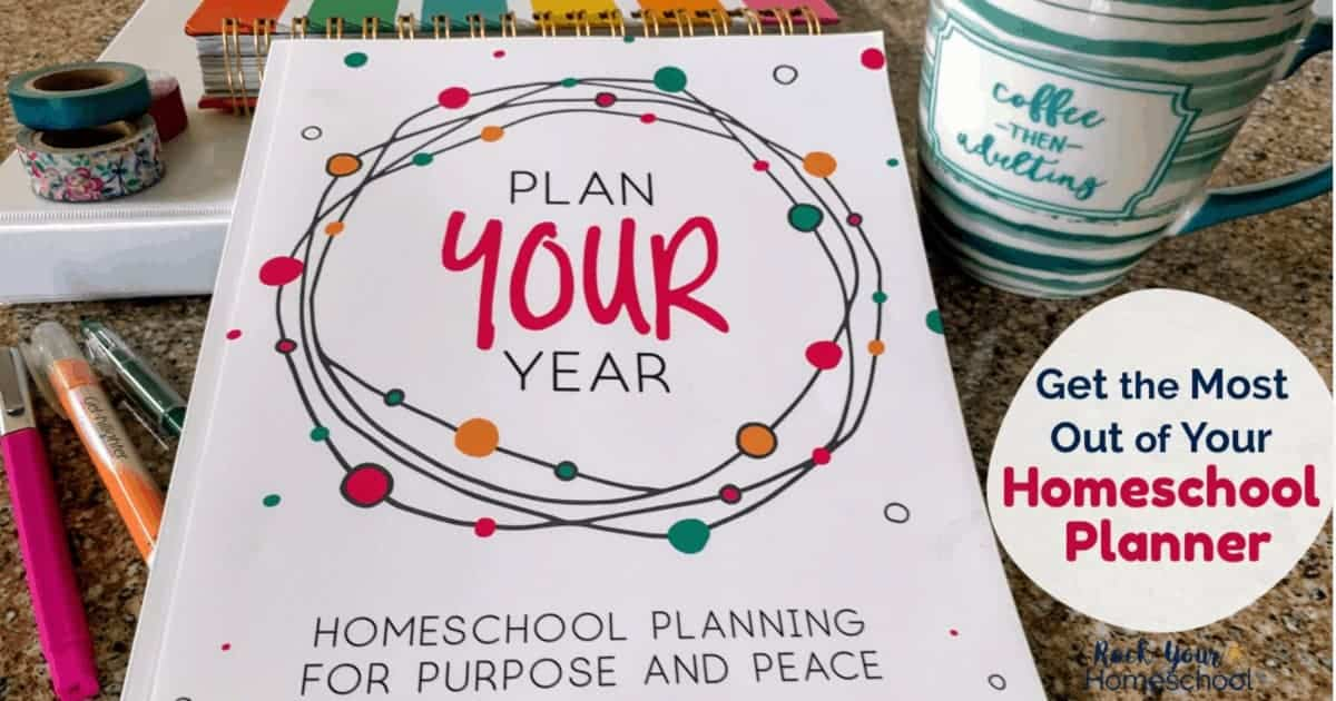 Want to get the most out of your homeschool planner? Check out how Plan Your Year by Pam Barnhill can help you find your homeschool purpose & peace.