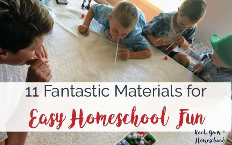 11 Fantastic Materials for Easy Homeschool Fun