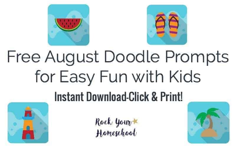 Get ready for some super easy fun with your kids!  Beat the heat with August doodle prompts!  Instant download so you can get started right away :)