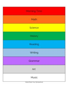 thumbnail of Homeschool Focus-Paper Link Chain rainbow