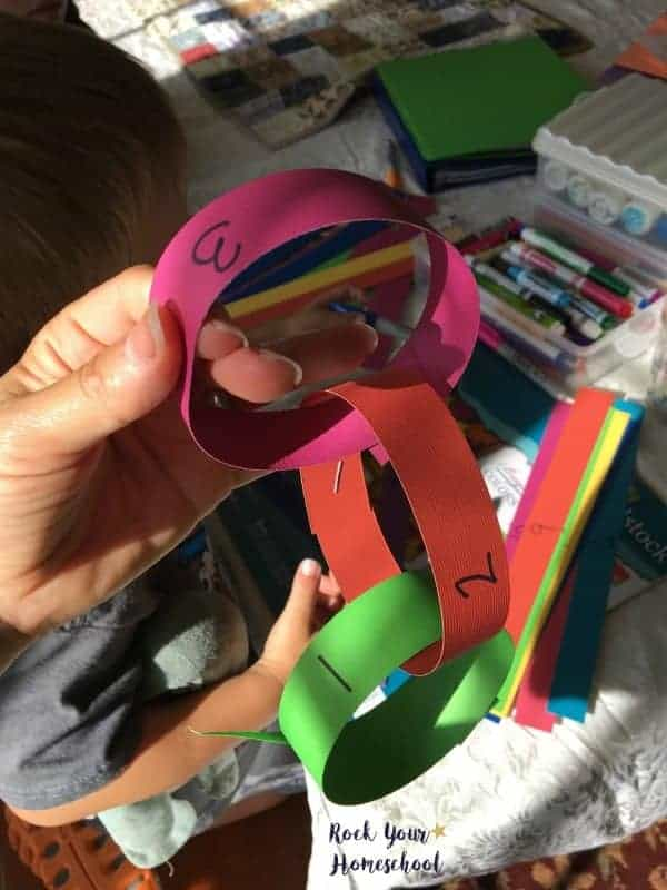 Paper chains can be a fabulous homeschool focus tool!