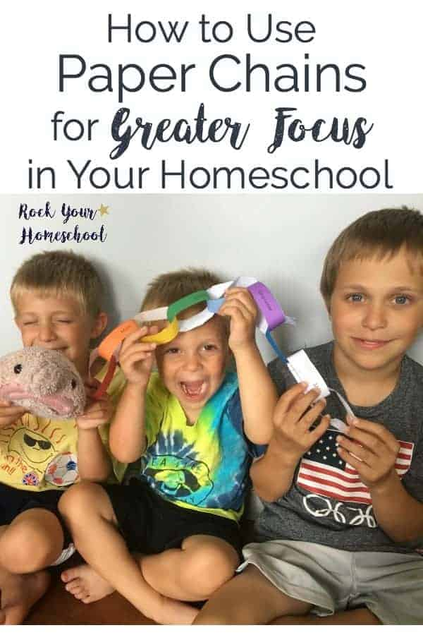 Check out how to use paper chains as a homeschool focus tool! Super fun way to help your kids focus.